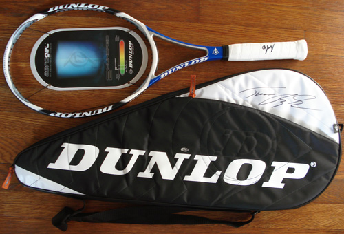 Dunlop Sport Aerogel Tennis Racket signed by Tomas Berdych